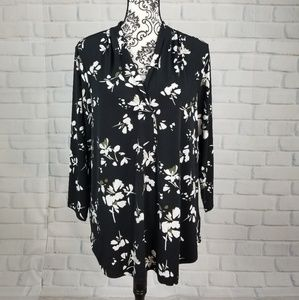 Charter Club sz xl stretch knit floral top